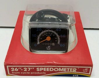"""NOS Vintage CPC 20"""" Bicycle Speedometer Bike Part Cycle Products Company 615 Meter 1980's"""