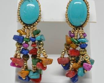 Gorgeous multi strand beaded earrings