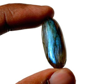 Labradorite 24 Cts Natural Multi Fire Cabochon Both Side Polished Oval Shape Labradorite Loose Gemstone 29x12x8 MM R14464