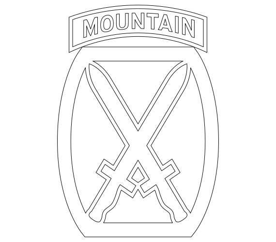 Us Army 10th Mountain Division Patch Vector Files Dxf Eps Svg