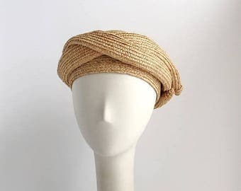SALE Raffia Turban in Natural