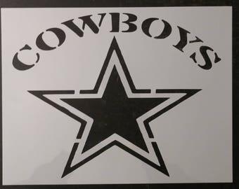 Cowboy Stencil Etsy