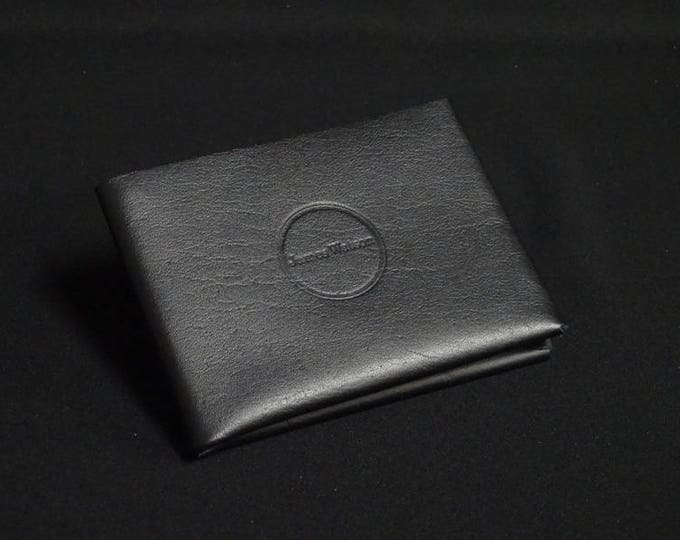 6Pocket Wallet - Black - Kangaroo leather with RFID credit card blocking - Handmade - Mens/Womens - James Watson