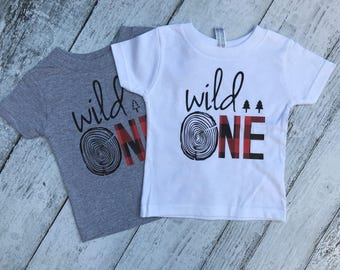 Wild One, First Birthday, buffalo plaid, wild one, birthday shirt, first birthday shirt, one, lumberjack, first birthday outfit, hunter