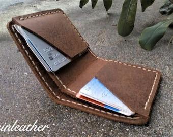 leather business card holder,Slim Wallet,Minimal Leather Wallet,leather wallet mens, Personalized Leather wallet, gift for men