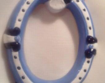 Mini blue and white - border 9 006
