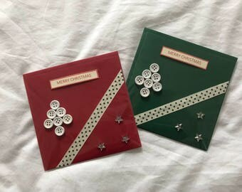 Pair of Christmas Tree Cards