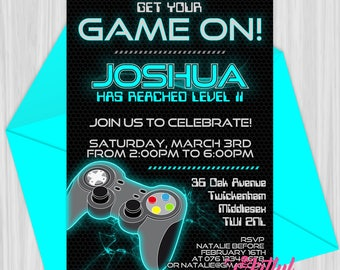 Printable Video Game Party Invitation