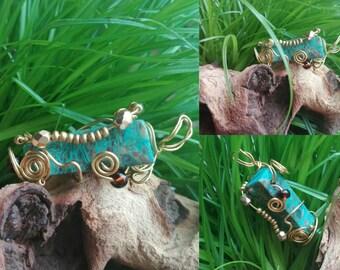 Spiral pendant of Jasper