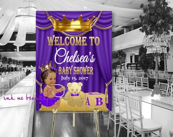DIGITAL FILE Royal Pink Baby Welcome Poster,Princess Baby Shower,  Royal Baby Shower Decor, A Princess is On It's Way RP-009