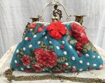 Bag handbag, shoulder bag, Dirndl, shabby, vintage, romantic