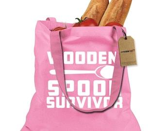 Wooden Spoon Survivor Shopping Tote Bag