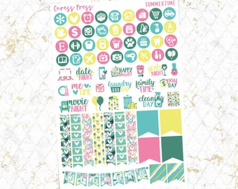 Summertime Functional Sheet | 69 Stickers