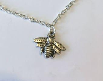 Bumble Bee Anklet, Silver Plated Anklet, Anklets for Women, Chain Anklet, Charm Anklet, Bumble Bee Ankle Bracelet