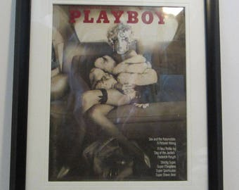Vintage Playboy Magazine Cover Matted Framed : May 1973 - Bernie Becker