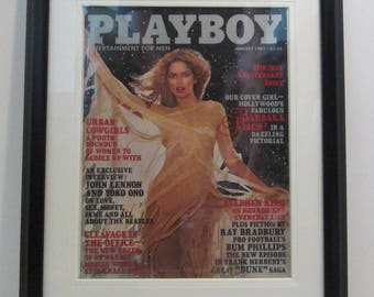 Vintage Playboy Magazine Cover Matted Framed : January 1981 - Barbara Bach