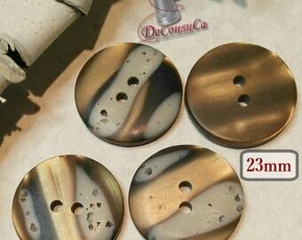 4 buttons, 23mm, vintage button, antique button, BM15