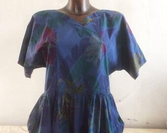 ' 80/' 90 flowers dress