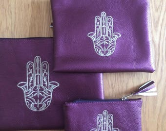 Set of 3 hand of fatima purses