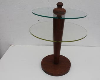 Gilbert Rohde  Style Pedestal Side Table .