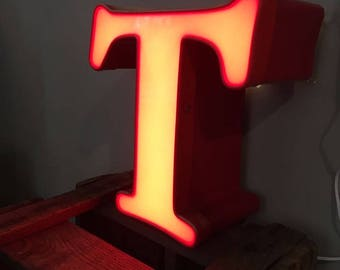 "Antique Neon Letter ""T"""