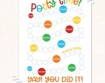 Potty Chart Printable / Potty Training Print / DIGITAL / Potty Time Chart / Colorful Potty Chart / Potty Reward Chart / Potty Printable