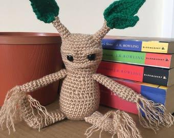 Harry Potter Mandrake Root Crochet Amigurumi