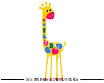 Giraffe svg / dxf / eps files. Digital download. Compatible with Cricut and Silhouette machines. Small commercial use ok.