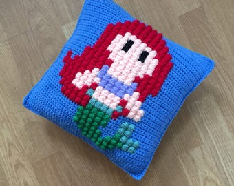 Princess crochet cushion