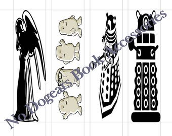 Villains of Doctor Who Inspired Printable Bookmarks / Printable Bookmarks / DIY Bookmarks / Print at Home Bookmarks