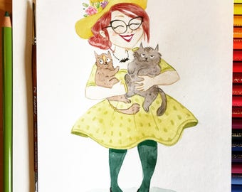 You as a witch! -Original watercolor illustration
