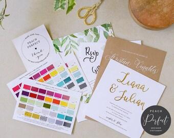 Wedding invitations etsy au wedding invitation sample pack peach perfect australia stopboris Gallery