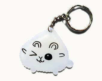 Sheep Keychain - Animal Keychain - Acrylic Keychain - Kawaii Keychain - Cute Keychain - Cute Charm - Ram - Birthday Gift - Cute Accessory