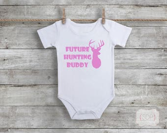 Future Hunting Buddy - Funny Bodysuit - Baby Gift - Gender Neutral - Dad Gift - Baby Shower Gift - Fathers Day - New Dad Gift - Hunting Dad