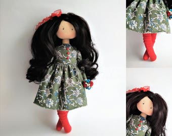 Baby doll. Gift idea. Interior doll. Birthday. Art doll. Fabric doll. Tilda doll. Textile doll. Handmade doll. Cloth doll. Gifts for Mom.