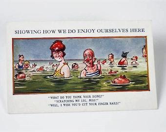 Five Seaside Humor Saucy Postcards English
