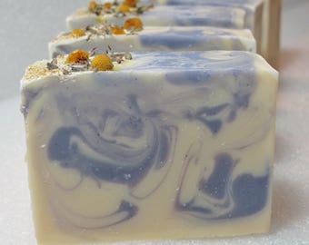 Chamomile Lavender Soaps Scented with Lavender essential oil ~  Dried flower buds! Pure relaxation!