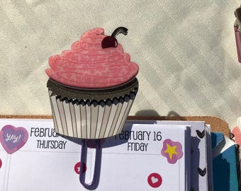 Yummy Cupcakes Planner Clip for Planners and Travelers Notebooks