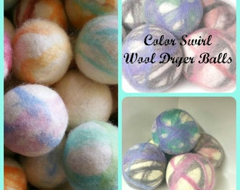 Wool Dryer Balls - 3 Large Natural Wool Dryer Balls - Dryer Ball Set - Wool felt Balls - Great For Cloth Diapers - Felted Dryer Balls