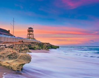 House of Refuge Northern Sky Colors Over Hutchinson Island