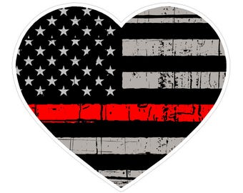 Heart Shape (C53) Thin Red Line Vinyl Decal Sticker Love Car Laptop/Netbook Window