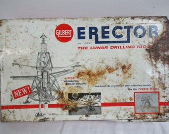 Vintage Gilbert Erector Set The Lunar Drilling Rig Set No 10221 F