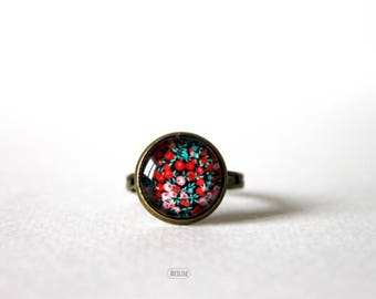 Ring Cabochon 12 mm Retro ° ° ° Liberty Vintage