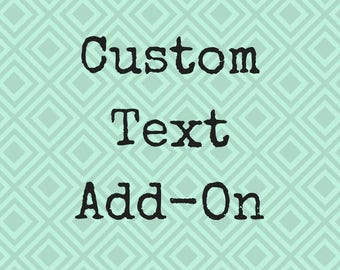 Custom Text Add On, Add Text To Any Mug, Personalize Your Mug