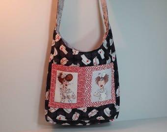 Crossbody Nurse Reversible Messenger Bag
