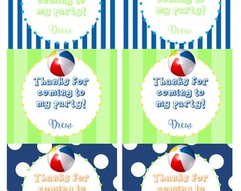 Beach/Pool Party Gift Tags
