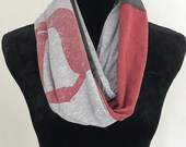 """Detroit Scarf  Made In Detroit Scarf, Motown Infinity Distressed Gray scarf, English """"D"""" Scarf Bachlorette Gift  Mother's Day Scarf"""