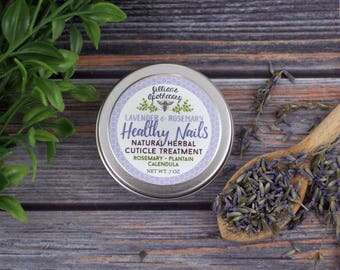 Natural Cuticle Cream- Nail Treatment- Lavender and Rosemary Essential Oil- Organic- Herbal Product- Natural Nail Care- Cuticle Moisturizer