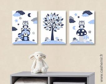 Stickers muraux hibou etsy - Affiche chambre garcon ...
