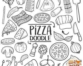 Pizza clip art | Etsy